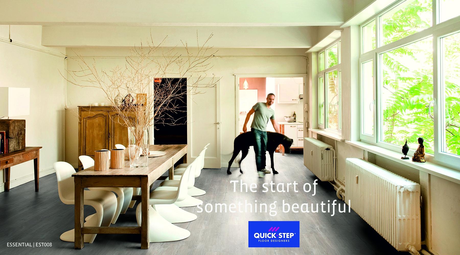 QUICK-STEP LIVYN ESSENTIAL PATINA OAK LIGHT GREY